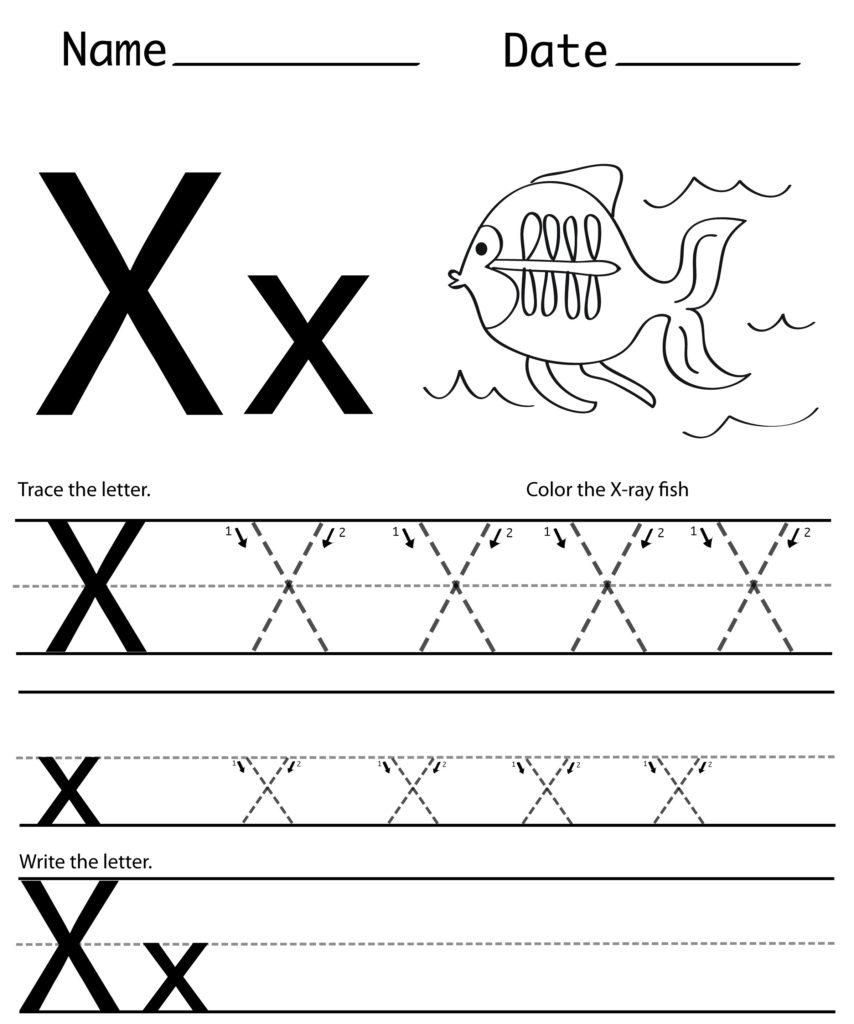 Letter X Printables Worksheets Preschool Crafts