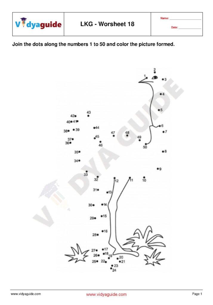 LKG Worksheets Set 04 Download 5 Lower Kindergarten LKG