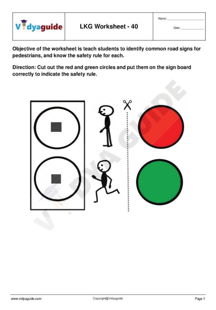LKG Worksheets Set 08 Download 5 Lower Kindergarten LKG