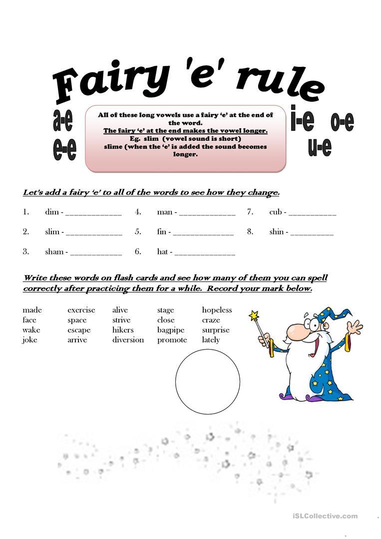 Long E Free Printable Worksheets