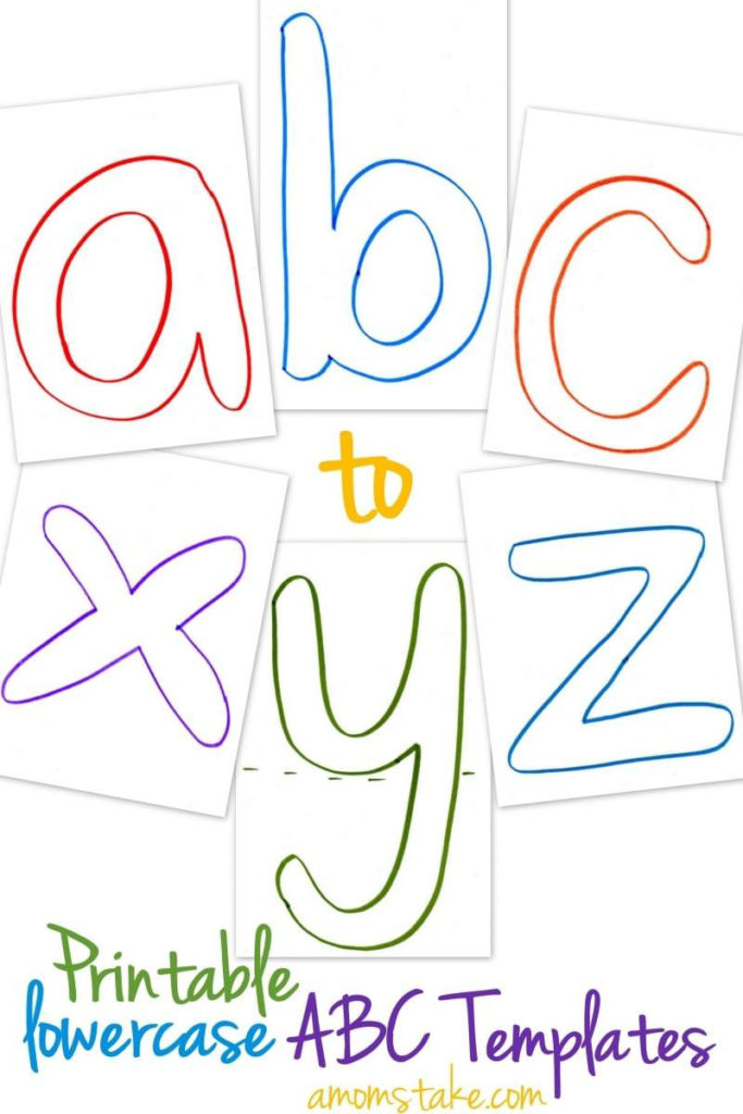 Lowercase ABC Templates Free Printable A Mom S Take