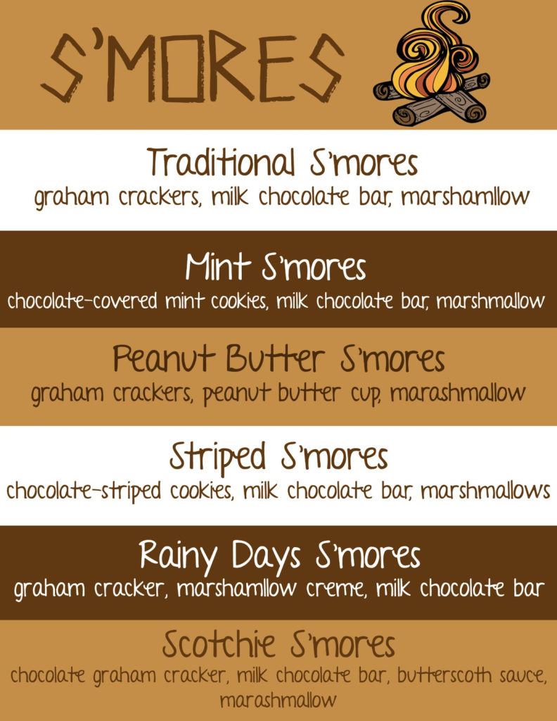 Mommy And Things S Mores Bar And Free Recipe Printable
