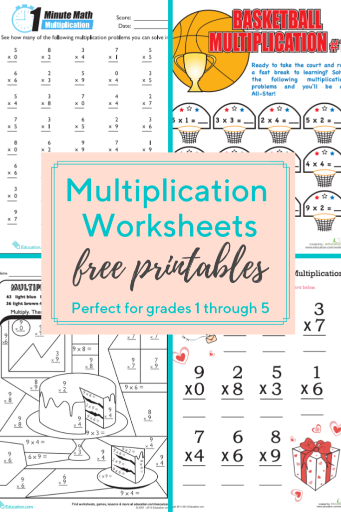 Multiplication Worksheets And Printables These