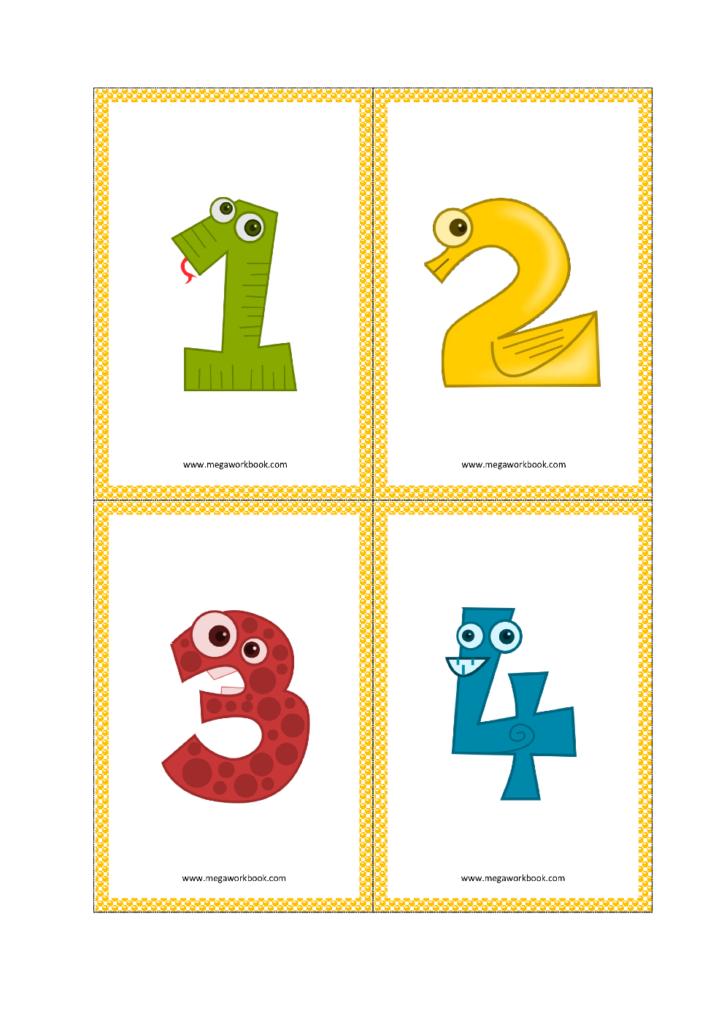 Number Flashcards Number Flashcards Printable FREE 1