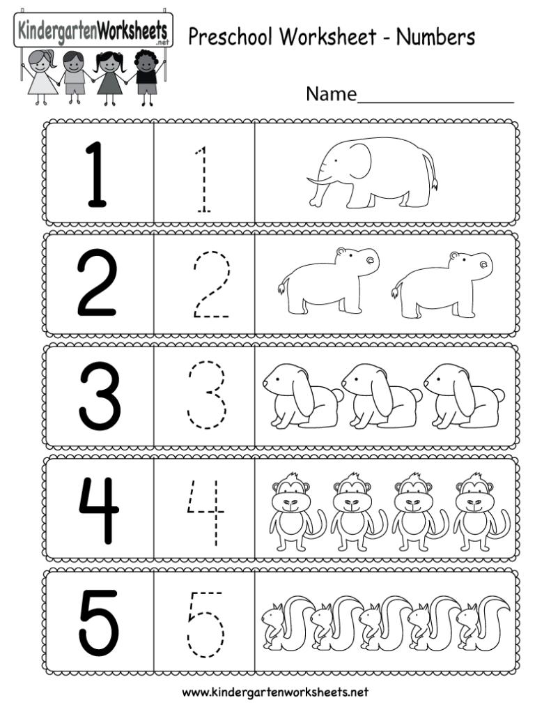 Numbers Worksheets For Pre K NumbersWorksheet
