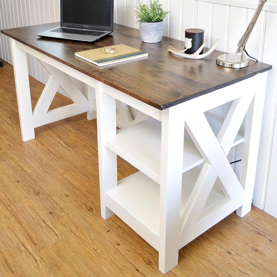 Farmhouse X Desk Free Printable Plans