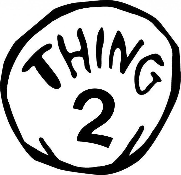 Thing 2 Free Printable