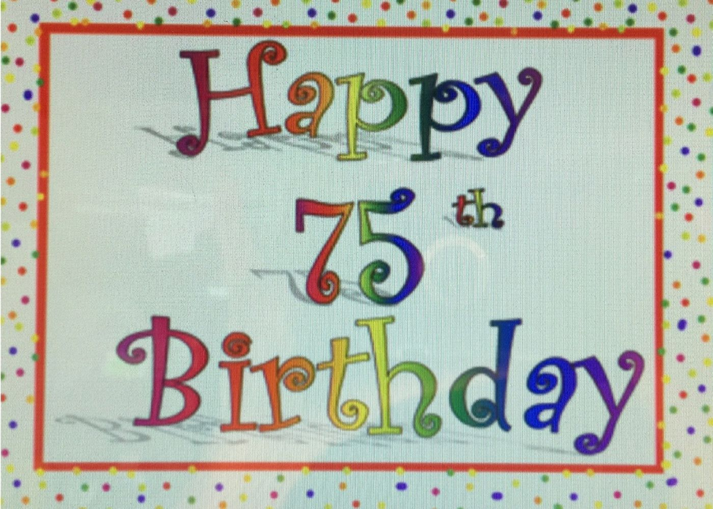 Free Printable 75th Birthday Cards