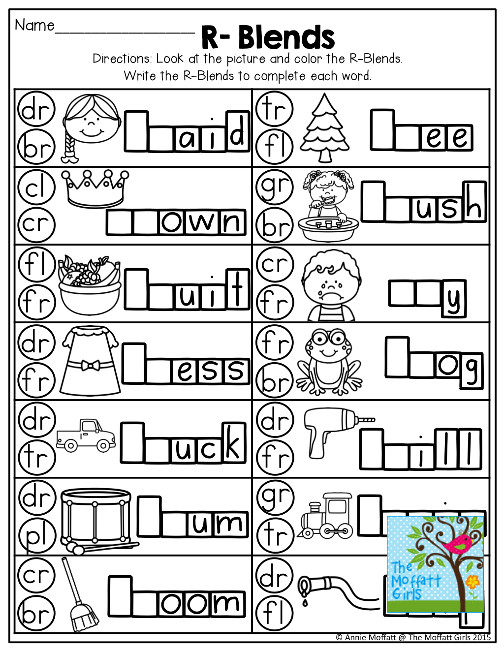 Free Printable R Blends Worksheets