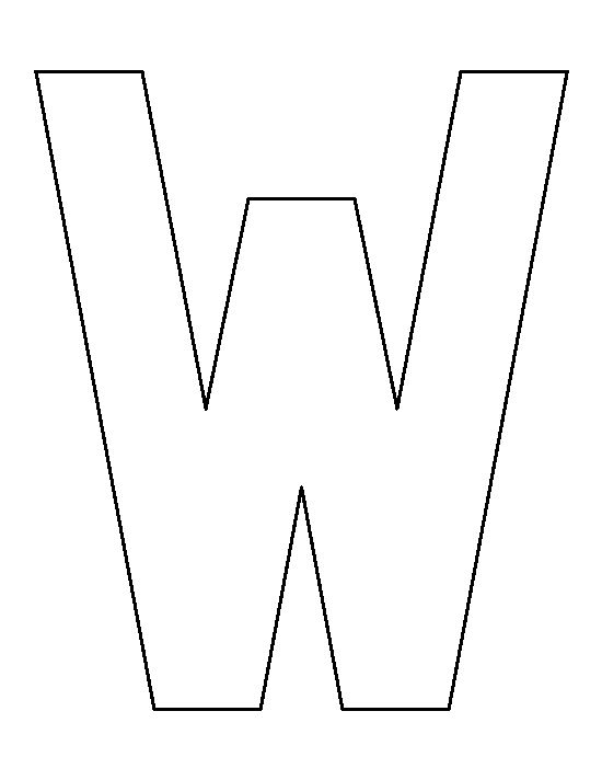 Letter W Free Printable
