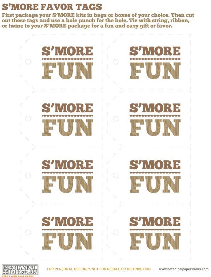 S'more Fun Free Printable