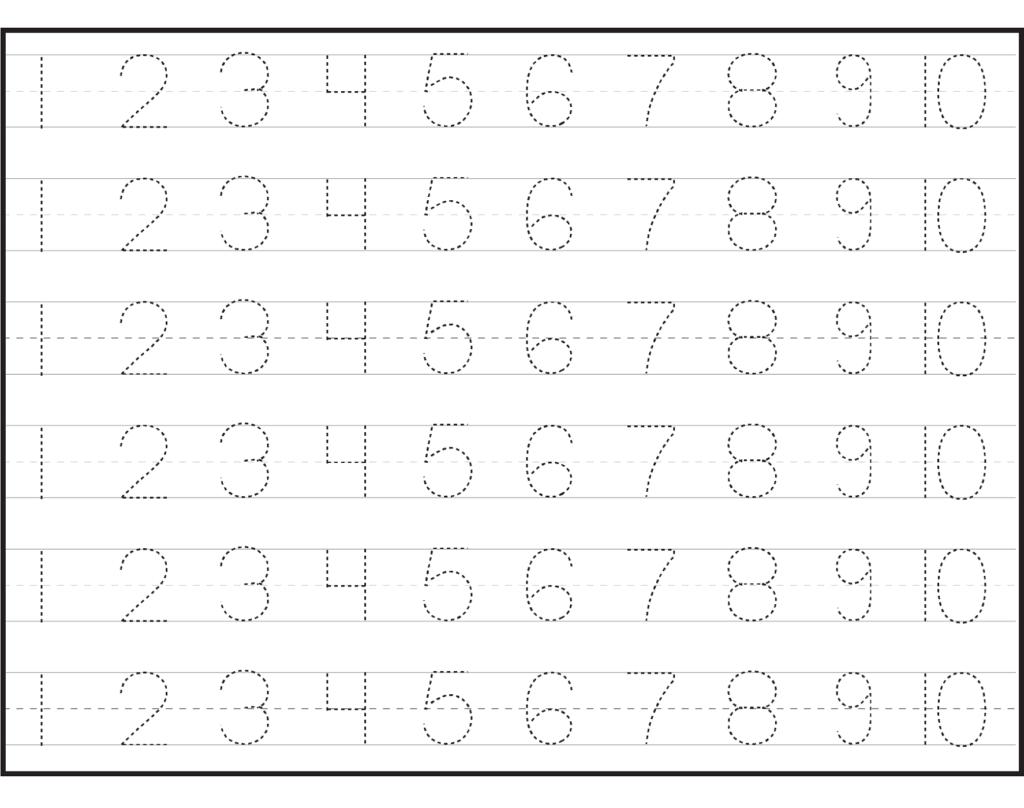 Pre K Worksheets Number Activity Shelter