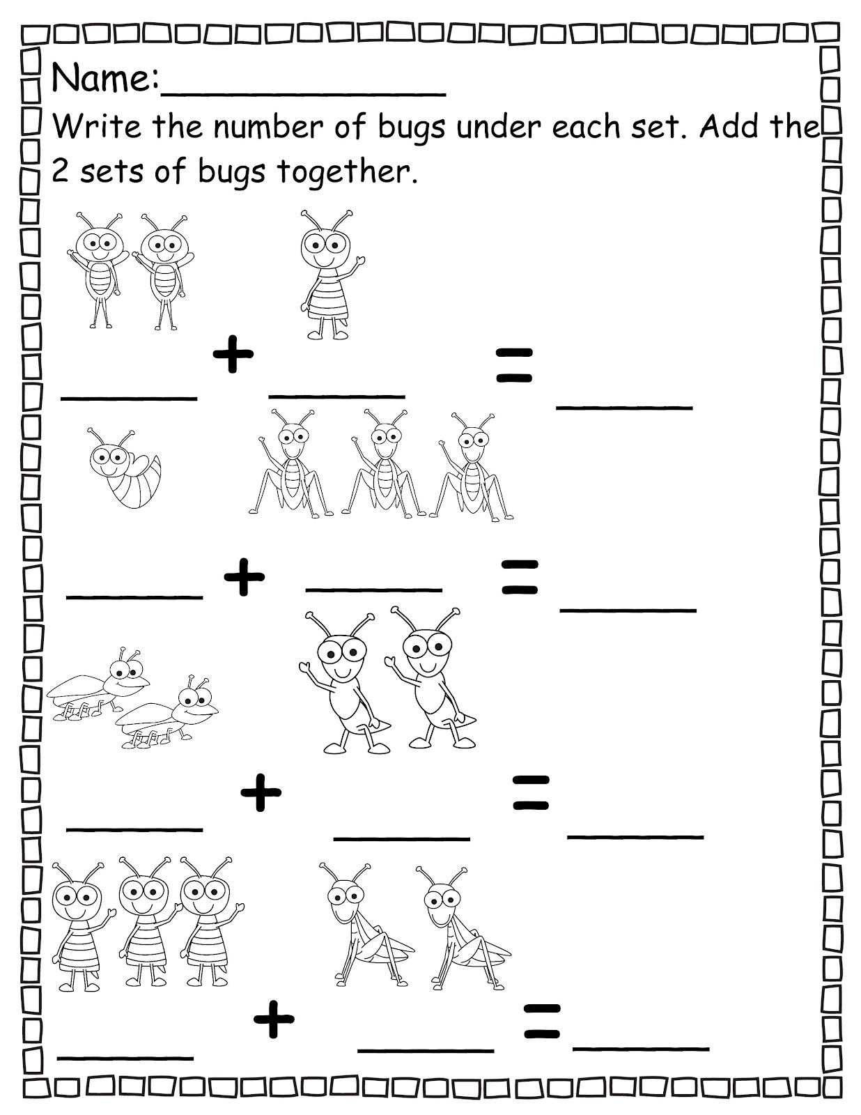 Pre K Math Worksheets
