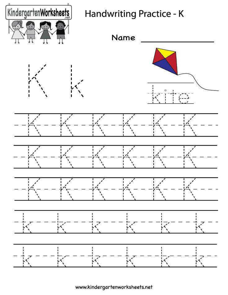 Pre K Writing Worksheets