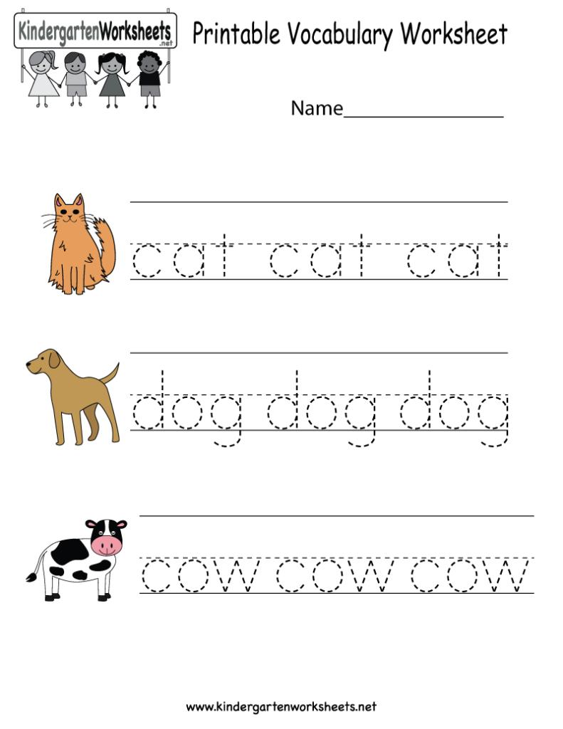 Preschool English Worksheets Free Printable 974962 Free