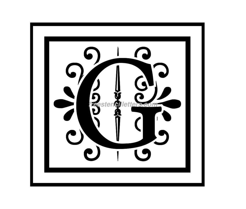 Print G Letter Stencil Free Stencil Letters