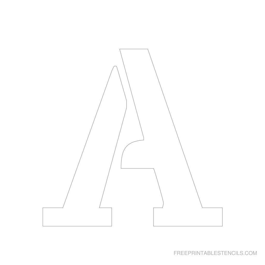 Printable 6 Inch Letter Stencil A Free Stencils