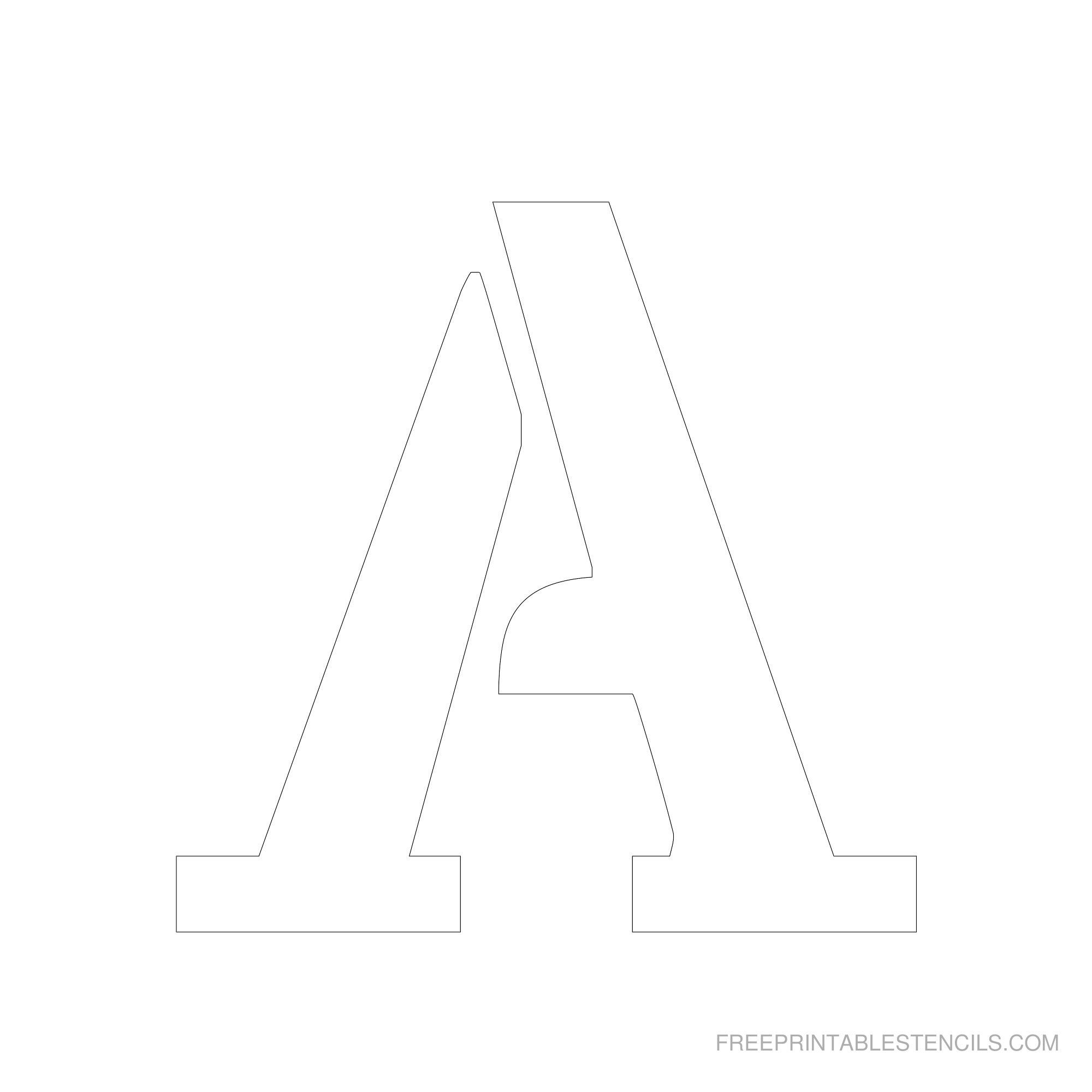 Free Printable 6 Inch Letter Templates