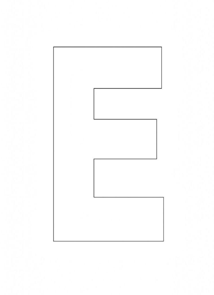 Printable Alphabet Letter E Template Alphabet Letter E