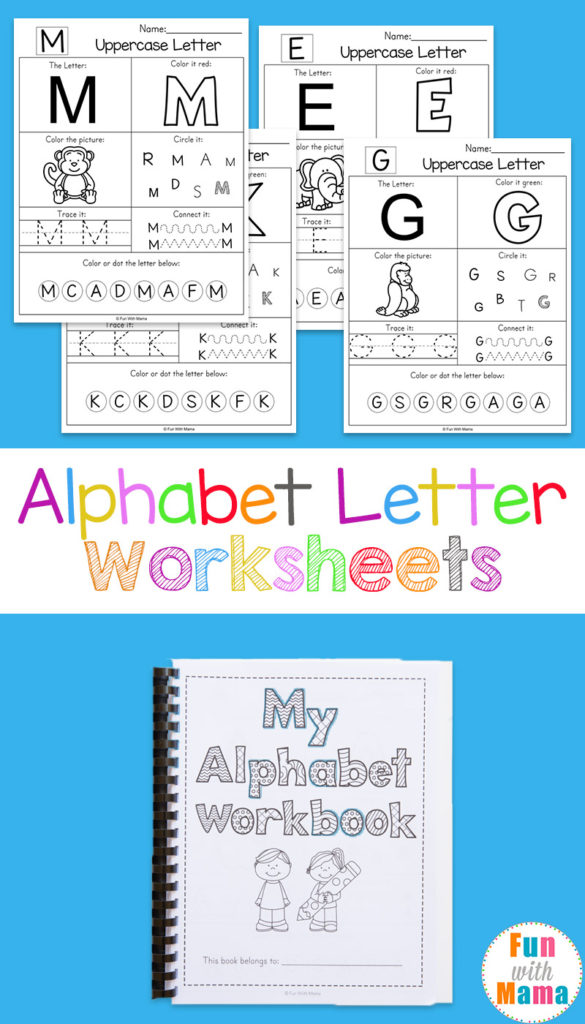 Printable Alphabet Letter Worksheets Fun With Mama