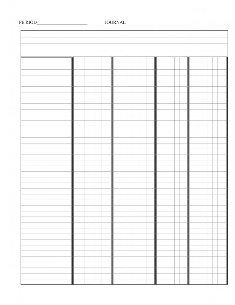 Free Printable 5 Column Ledger Paper