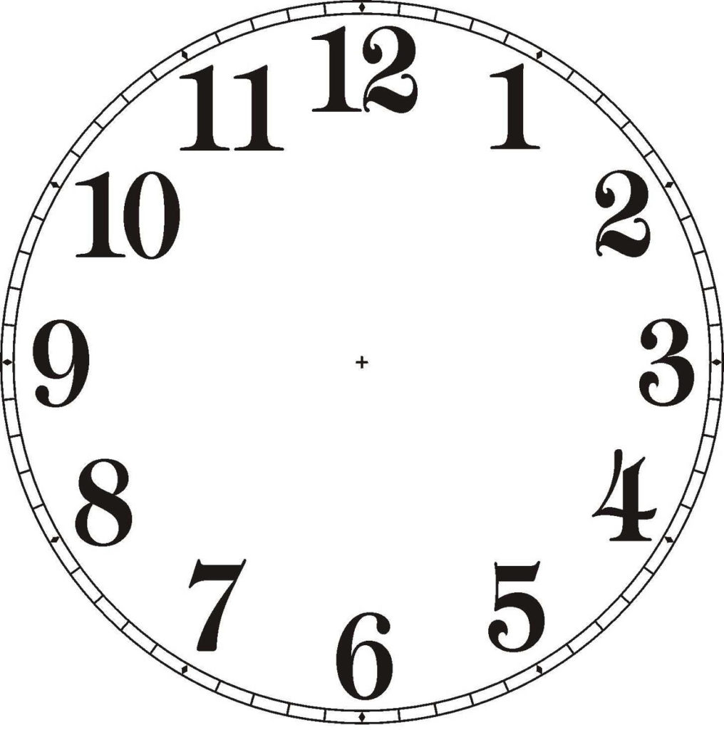 Printable Clock For Children Activity Shelter