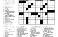 Printable Crossword Celebrity Printable Crossword Puzzles