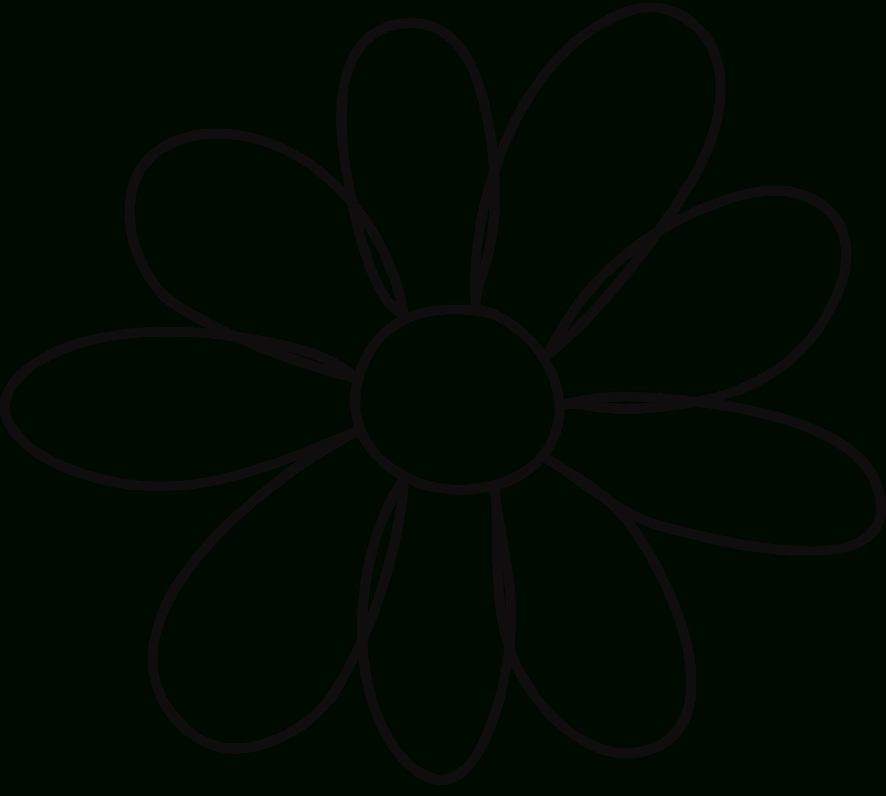 Free Printable Flower Template