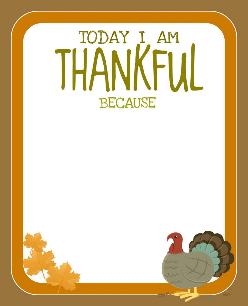 PRINTABLE Free Thanksgiving Printable Creative Juice