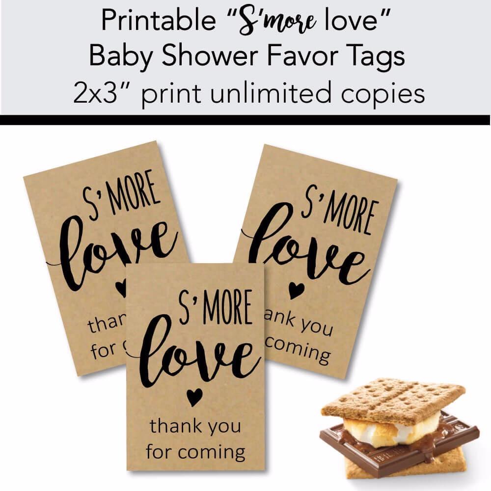 Free Printable S'mores Tags