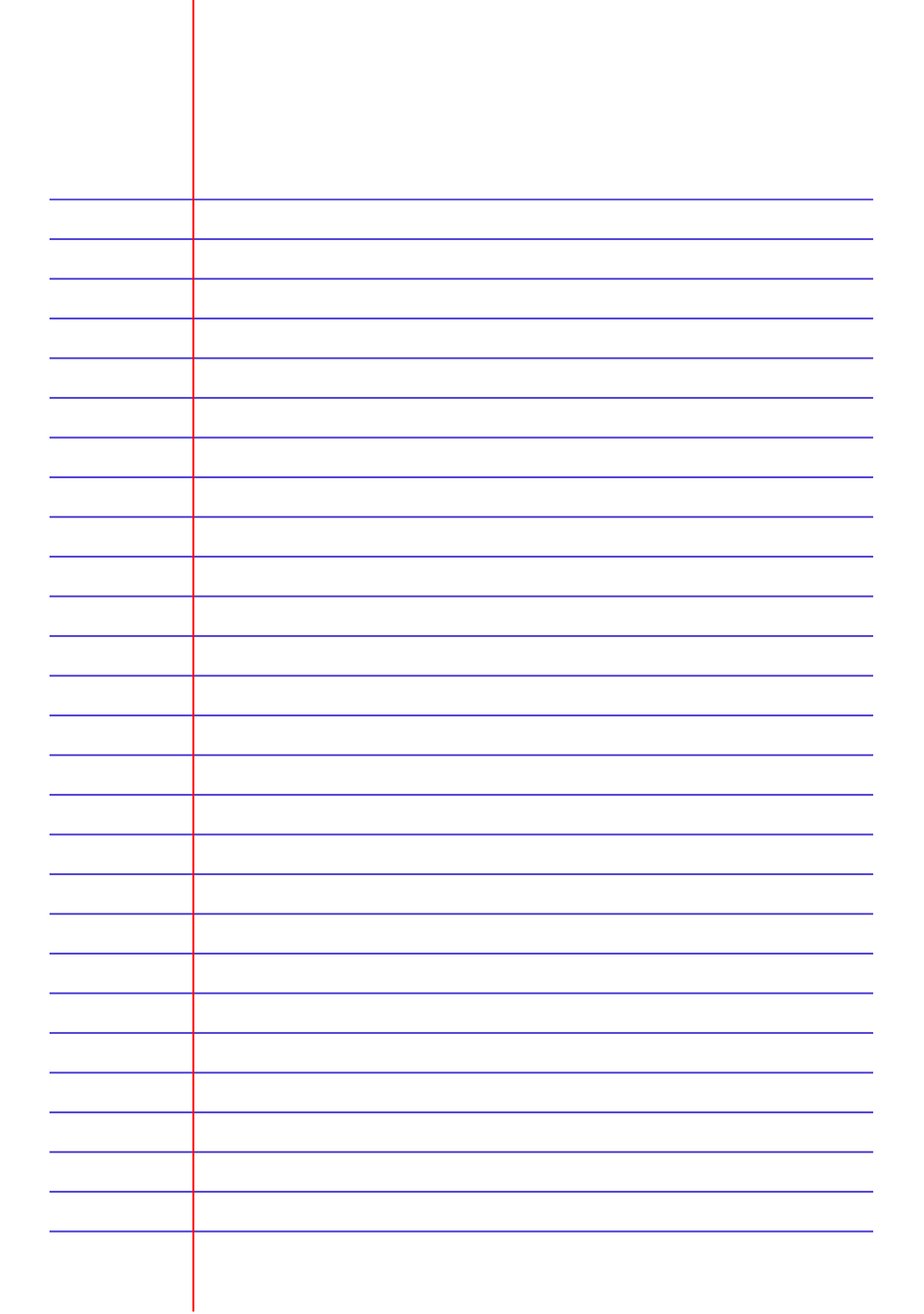Free Printable Lined Paper