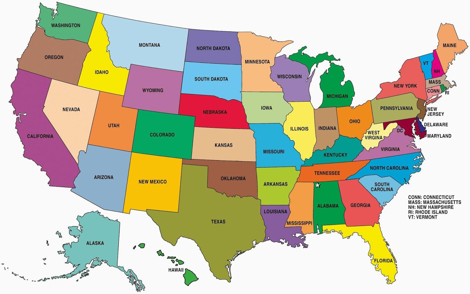 Free Printable U.s. Map