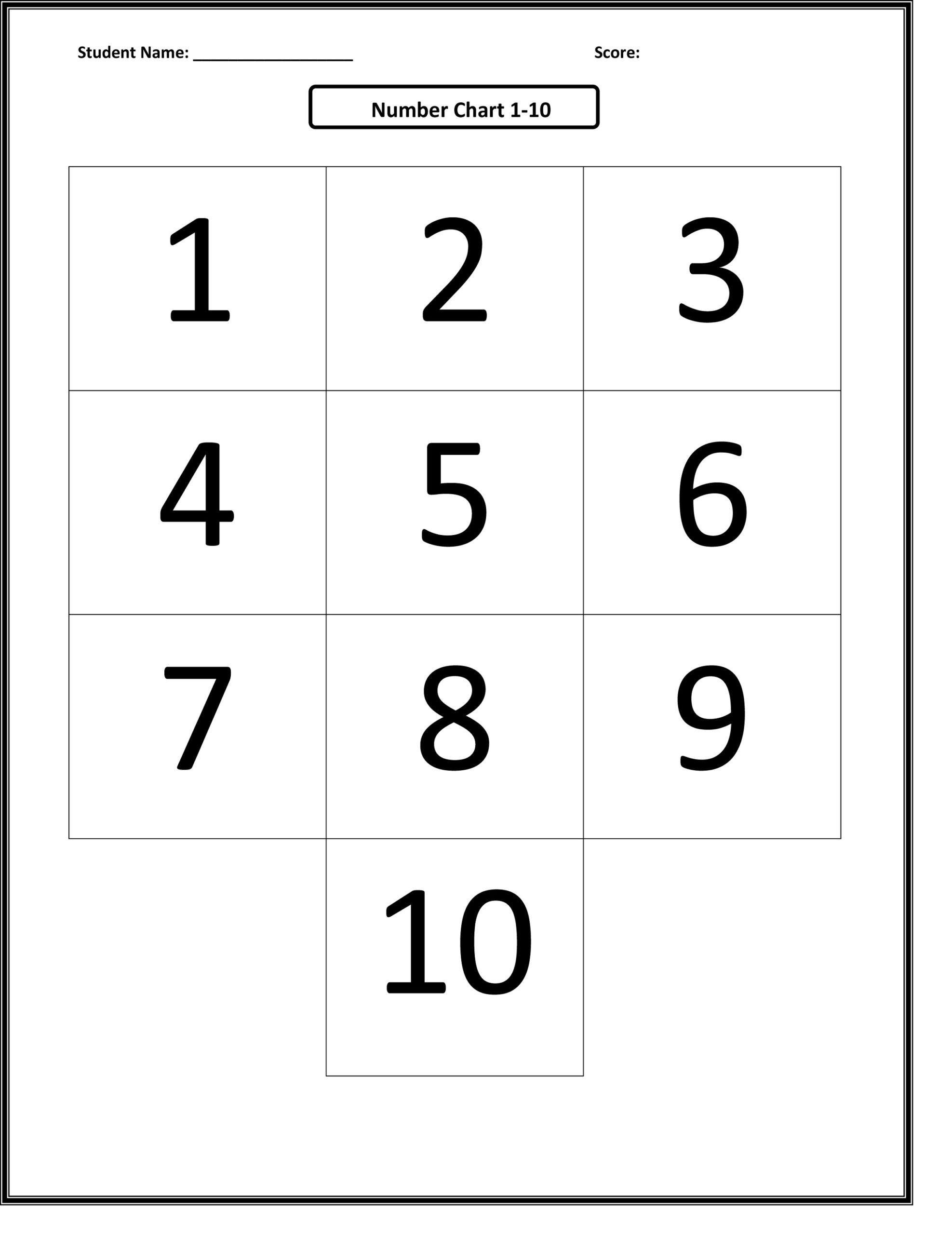 Free Printable Numbers 1-10