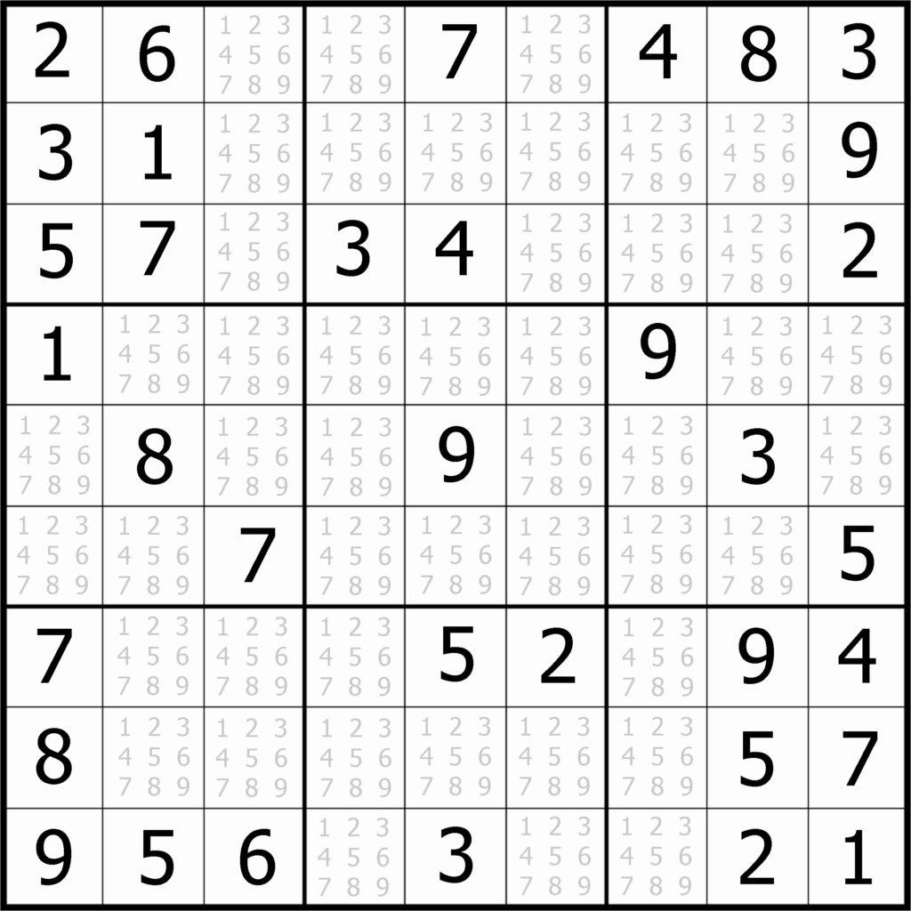 Printable Sudoku Puzzles For Beginners Printable
