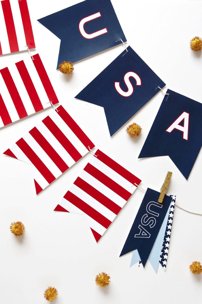 Printable USA Banner For July 4th FREE PDF Download
