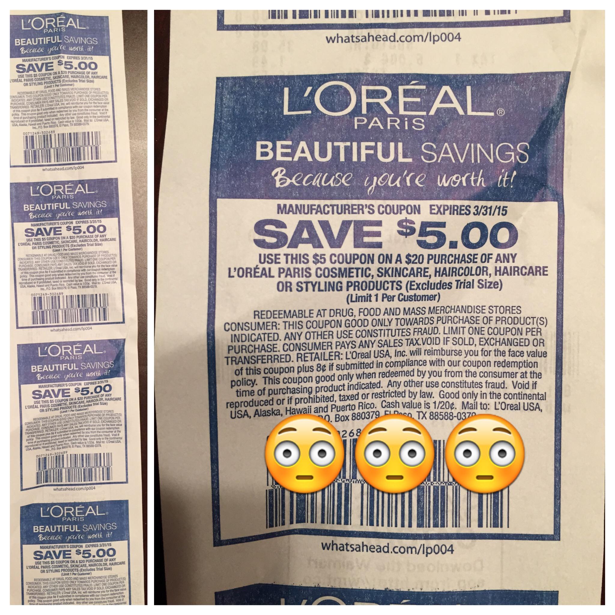 Free Printable L'oreal Coupons