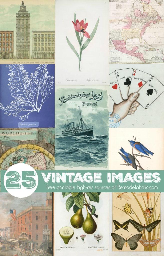 Remodelaholic 25 Free Printable Vintage Images