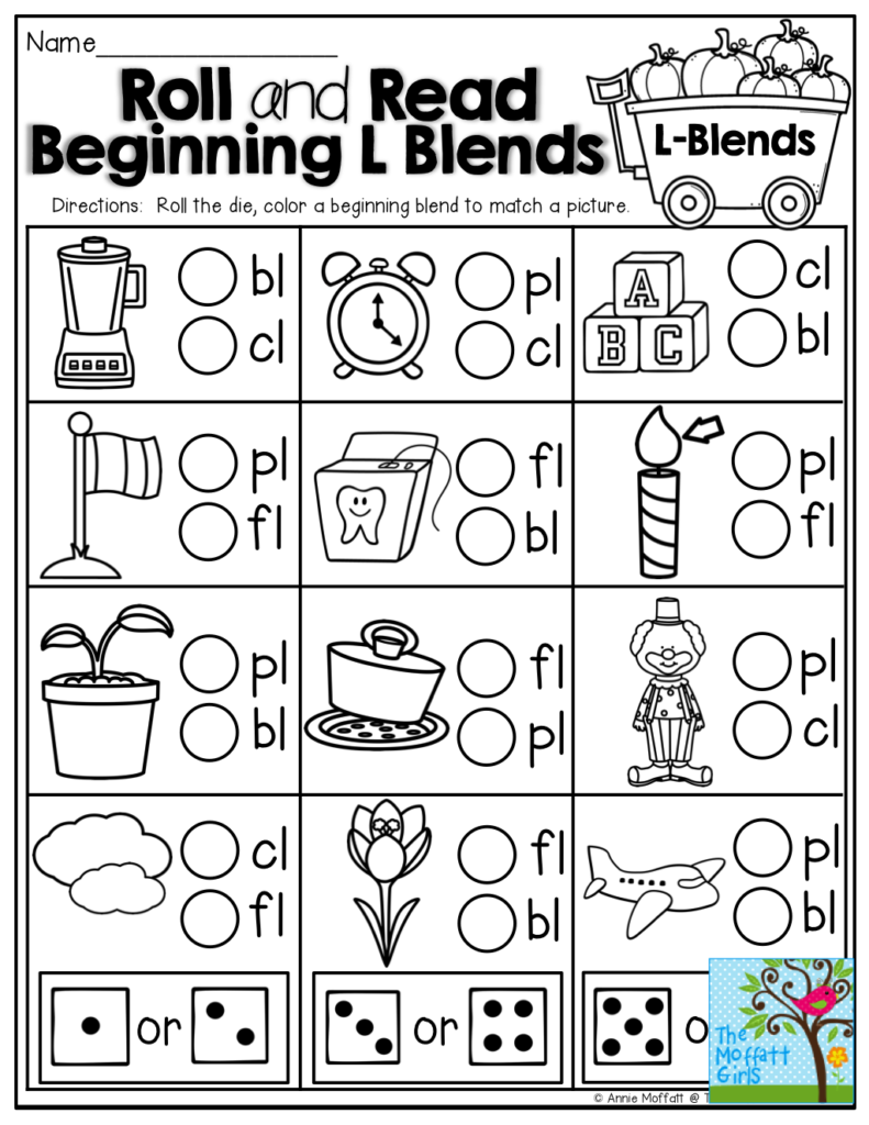 Roll And Read Beginning L Blends TONS Of FUN And