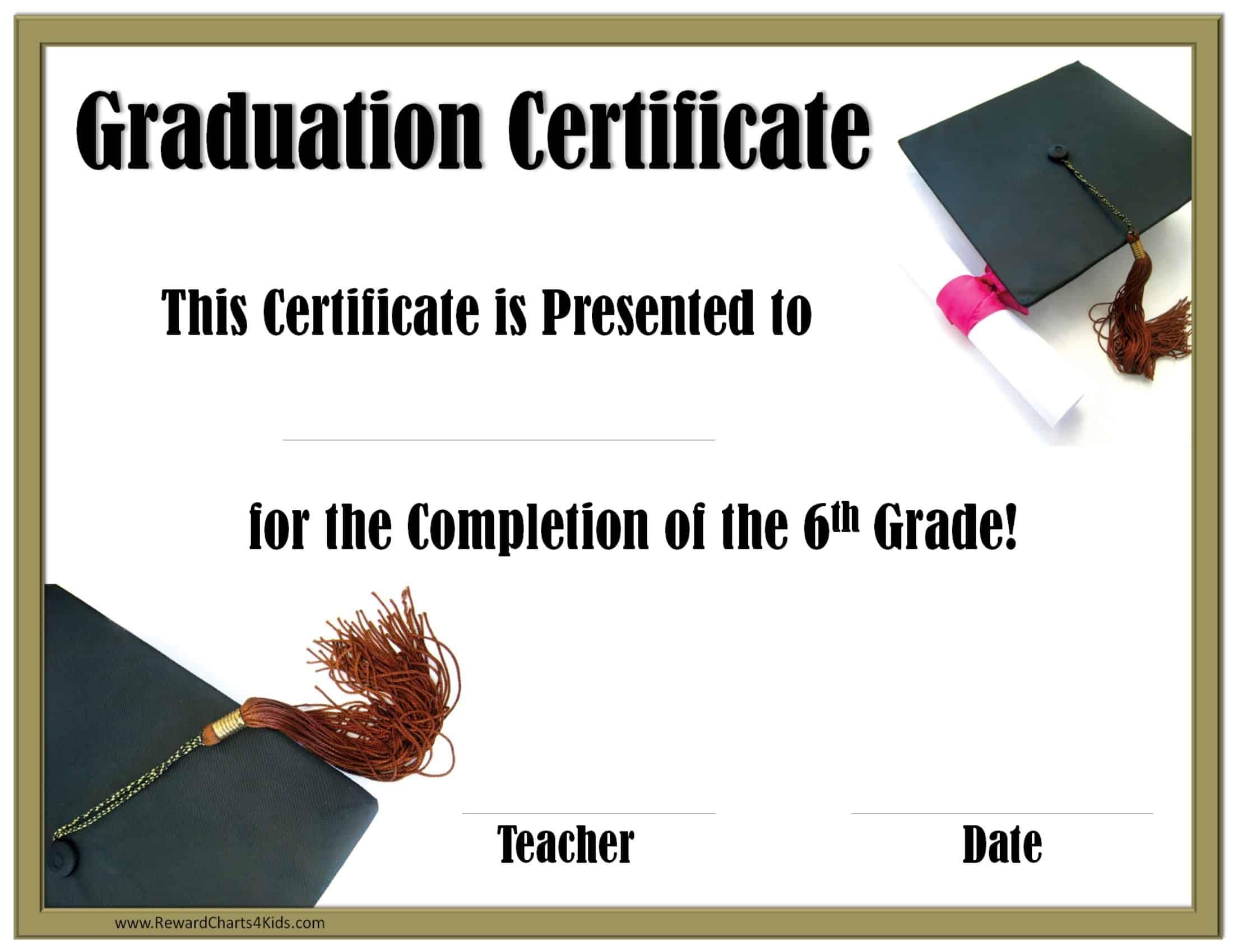 Free Printable 5th Grade Graduation Certificates