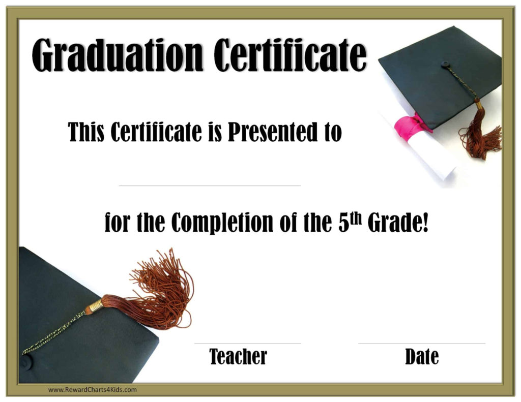 School Graduation Certificates Customize Online With Or