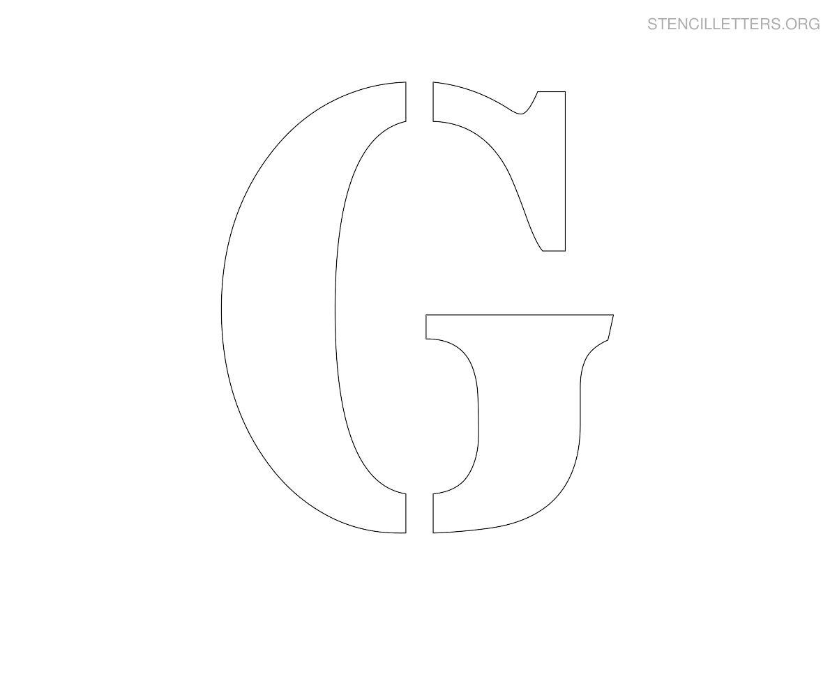 G Stencil Printable Free