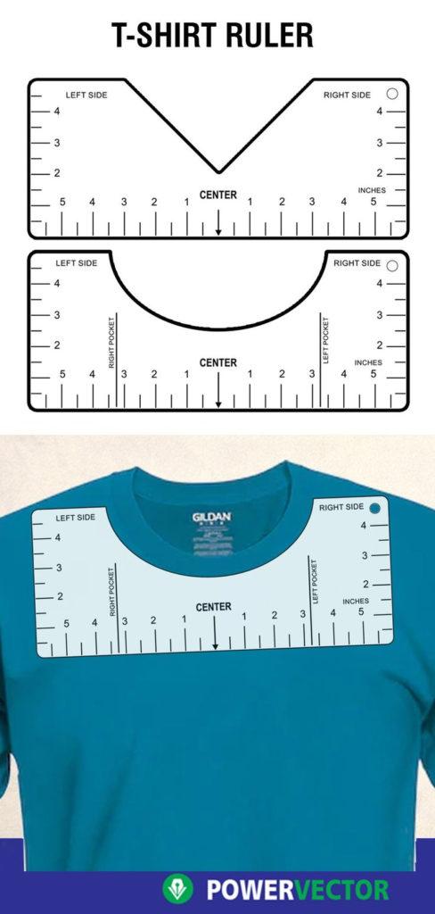 T Shirt Alignment Tool Glowforge SVG File Printable