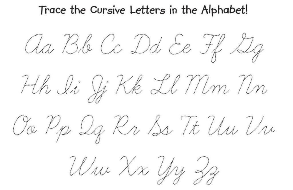 The Cursive Alphabet Printable AlphabetWorksheetsFree
