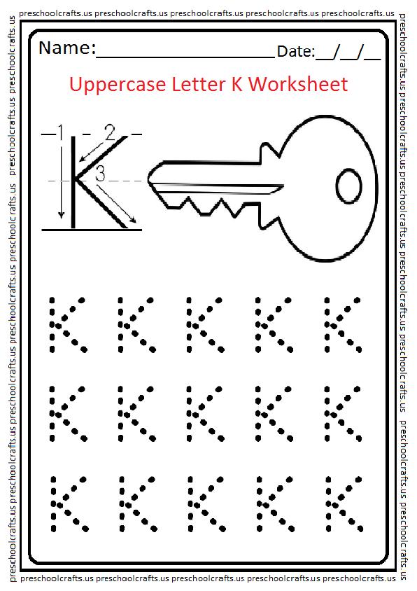 Letter K Free Printable Worksheets