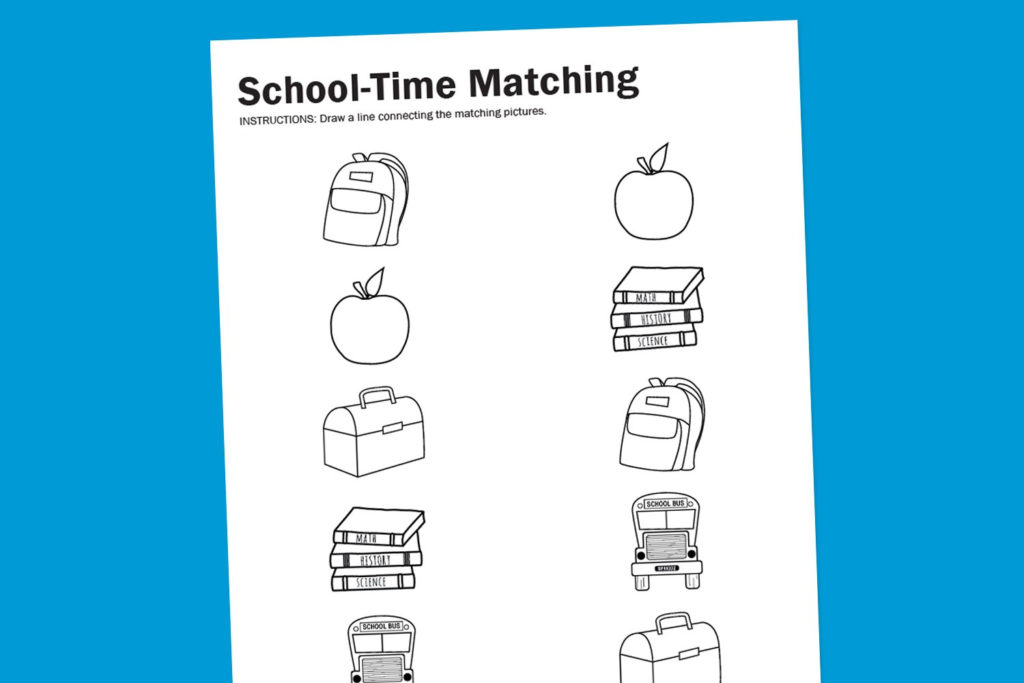 Worksheet Wednesday School Time Matching Paging Supermom