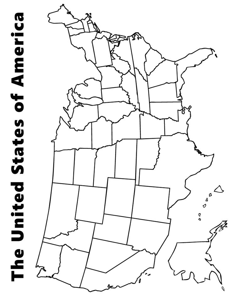 Free Printable Us Map