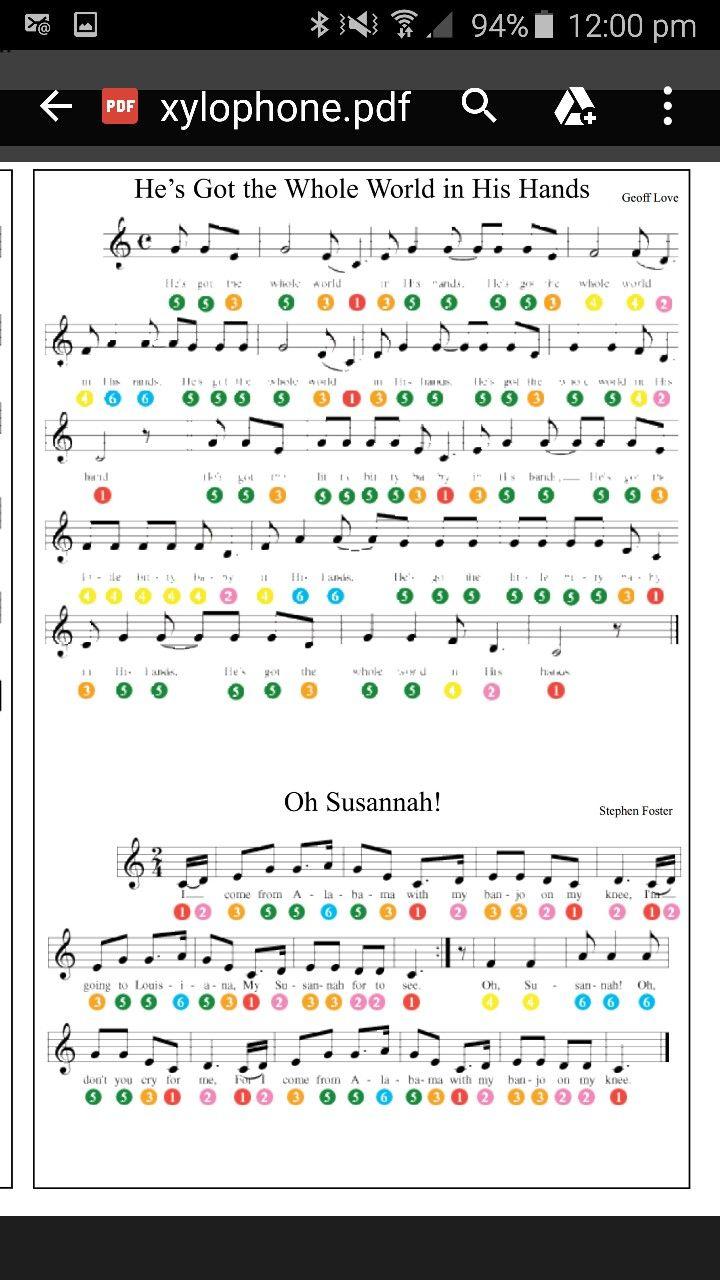 Free Printable Xylophone Sheet Music
