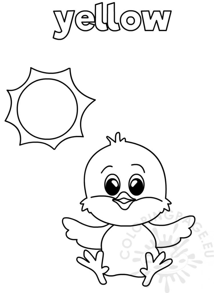 Yellow Coloring Worksheet For Kindergarten Coloring Page